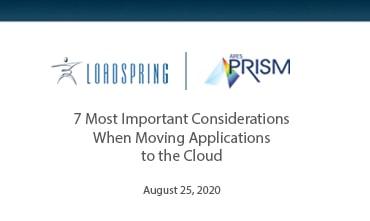 7 most important considerations ARES PRISIM webinar